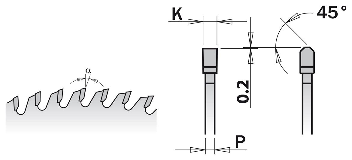 281.680.10M Пила HM D=250 F=30 Z=80 K=3,2/2,2 COMBI3 CHROM