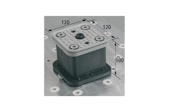 Vakuový blok VCBL-T 120x120 H = 100 mm se zvedacím systémem