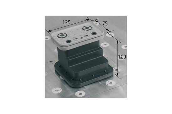 Vakuový blok VCBL-T 125x75 H = 100 mm pro úzké dílce