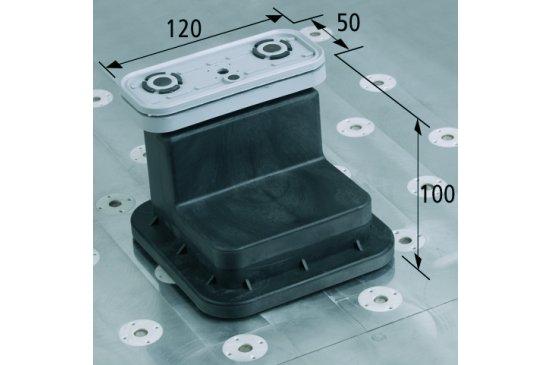 Vakuový blok VCBL-T 120x50 H = 100 mm pro úzké dílce
