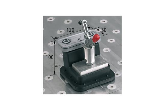 Vakuový blok VCBL-T 120x50 H = 100 mm s upínací pákou