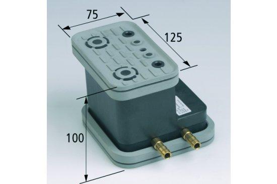 Vakuový blok VCBL-G 125x75 H = 100 mm pro hladké stoly