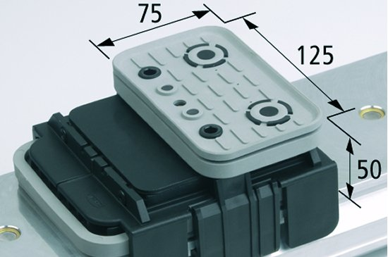 Vakuový blok VCBL-K1 125x75 H=50 mm Q (příčný)