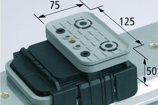 Vakuový blok VCBL-K1 TV 125x75 H=50 mm Q (příčný) snímač hrany
