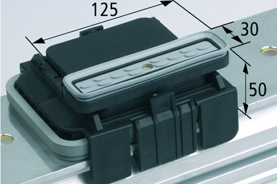Vakuový blokVCBL-K1 130x30 H=50 mm L (podélný) pro úzké elementy