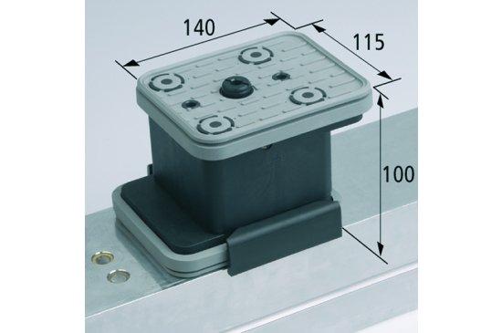 Vakuový blokVCBL-K2 AS 140x115 H=100 mm se zvedacím systémem