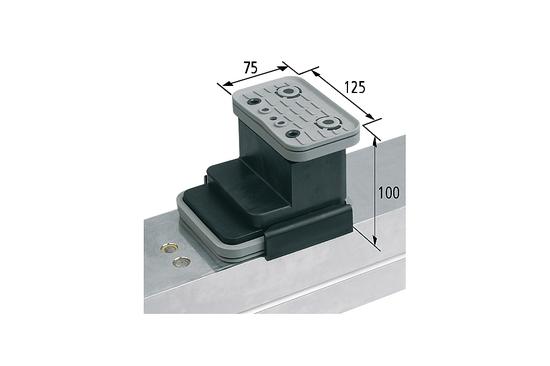 Vakuový blokVCBL-K2 125x75 H=100 mm Q (příčný)