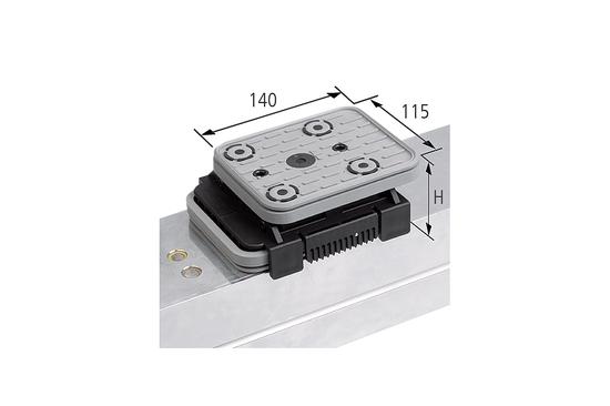 Vakuový blokVCBL-K2 140x115 H=50 mm