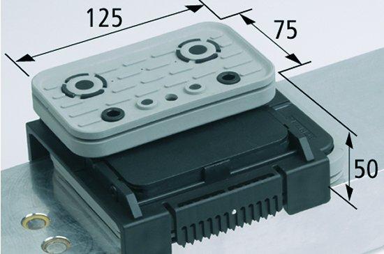 Vakuový blokVCBL-K2 125x75 H=50 mm L (podélný)
