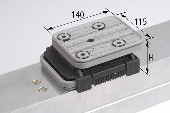 Vakuový blokVCBLS-K2 140x115 H=50 mm do šablony