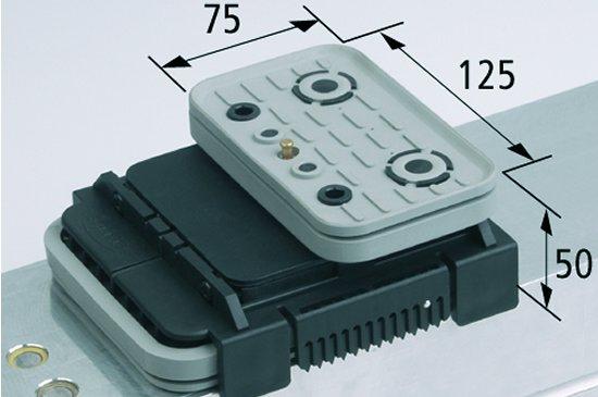 Vakuový blokVCBL-K2 TV 125x75 H=50 mm Q (příčný) s mezním sensorem