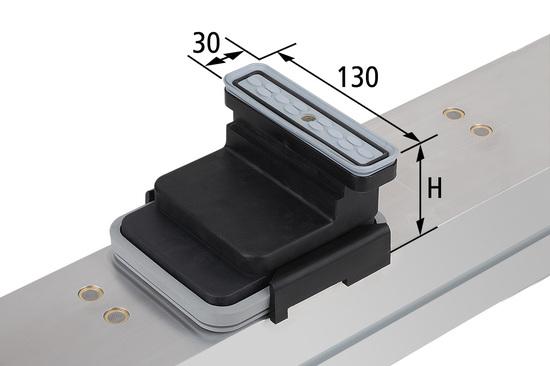 Vakuový blok VCBL-K2 130x30 H=50 mm Q (příčný) pro úzké elementy