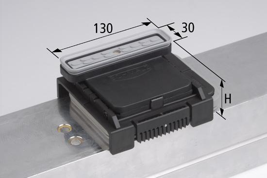 Vakuový blok VCBL-K2 130x30 H=50 mm L (podélný) pro úzké elementy