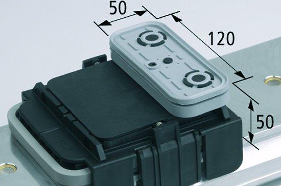 Vakuový blokVCBL-K1 120x50 H=50 mm Q (příčný) pro úźké elementy