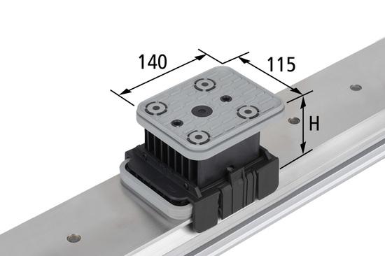 Vakuový blok VCBL-K1 140x115 H=85 mm
