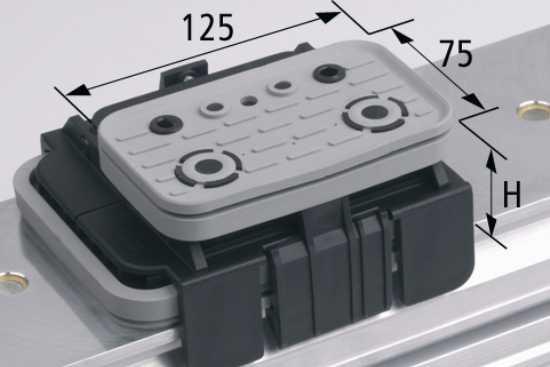 Vakuový blok VCBL-K1 125x75 H = 85 mm L (podélný)