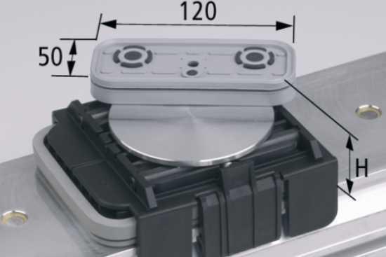 Vakuový blokVCBL-K1 120x50 H=85 mm OBR. horní sání otočené o 360 stupňů