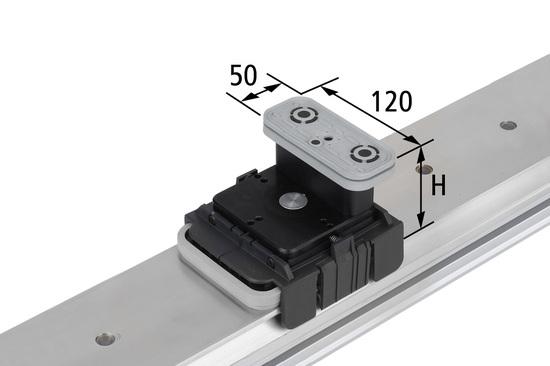 Vakuový blokVCBL-K1 120x50 H=125 mm Q (příčný) pro úźké elementy