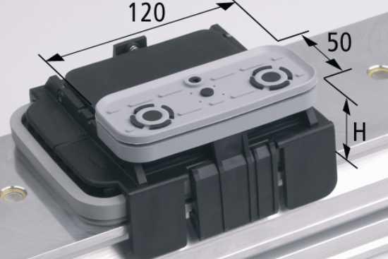Vakuový blok VCBL-K1 120x50 H=125 mm L (podélný) pro úźké elementy