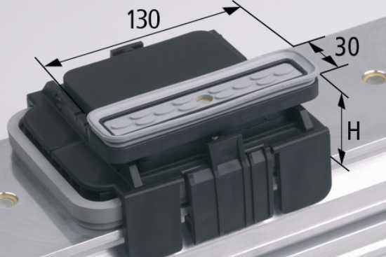 Vakuový blokVCBL-K1 130x30 H=125 mm L (podélný) pro úzké elementy