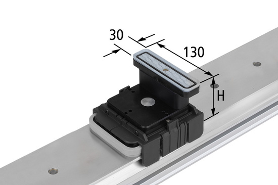 Vakuový blokVCBL-K1 130x30 H=100 mm Q (příčný) pro úzké elementy